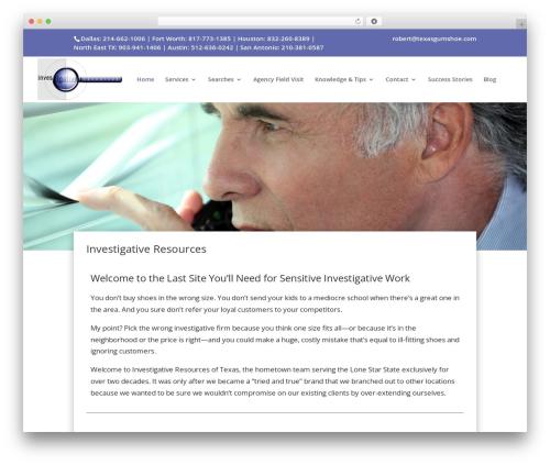 Theme WordPress Divi - texasgumshoe.com
