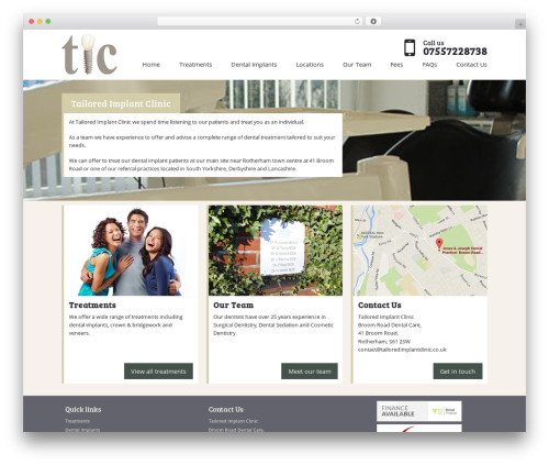 tic top WordPress theme - tailoredimplantclinic.co.uk