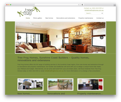U-Design WordPress page template - treefroghomes.com.au