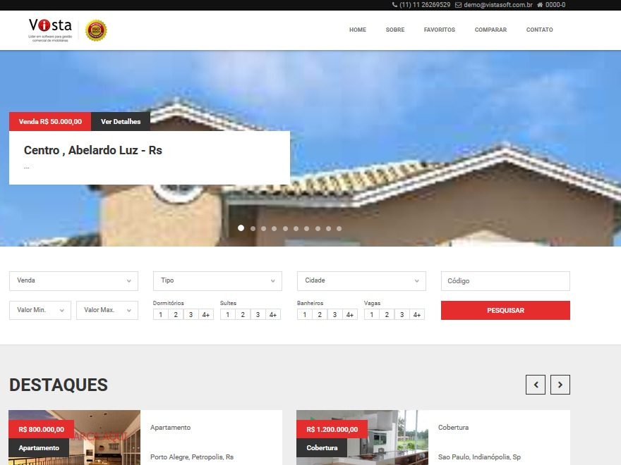 Vista Floripa WordPress template