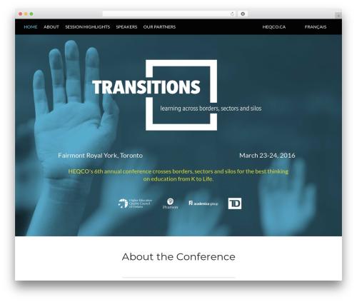 WordPress theme Conference Child Theme - transitionseducation.ca
