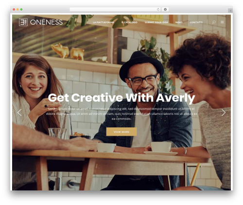 Best WordPress template Averly - oneness-agency.com