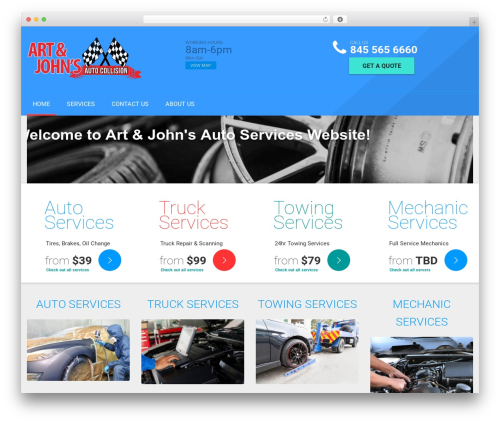Template WordPress AutoRepair - artandjohnsauto.com