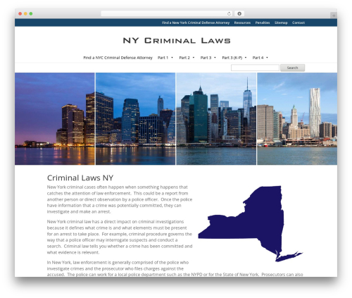 Divi WordPress theme - criminallawsny.com
