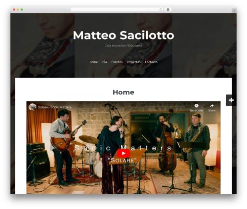 Fara free website theme - matteosacilotto.com