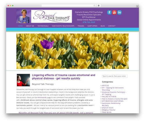 Headway Base WordPress theme design - beyondtalktherapy.com