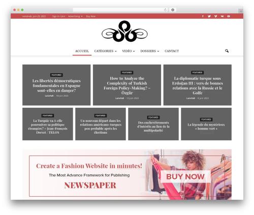 Newspaper premium WordPress theme - latiercevoix.com