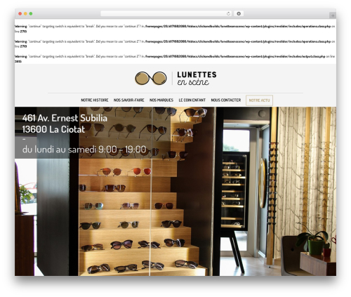 The Retailer theme WordPress - lunettes-en-scene.com