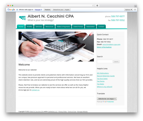 Customized template WordPress - anc-cpa.com