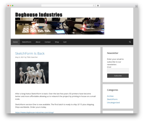 GeneratePress free WP theme - doghouse-industries.com