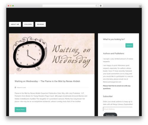 Polar Lite WordPress template free - literaryexploration.com
