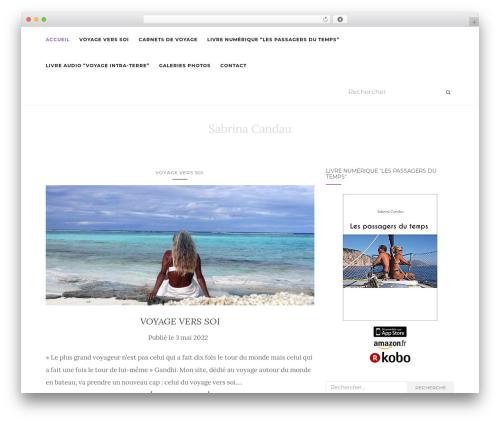 Activello WordPress theme design - sabrina-candau.com