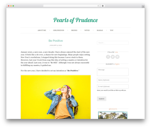 Best WordPress template Sugar and Spice - pearlsofprudence.com