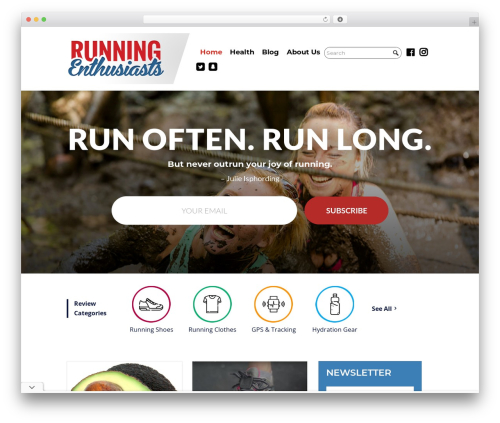 Divi premium WordPress theme - runningenthusiasts.com