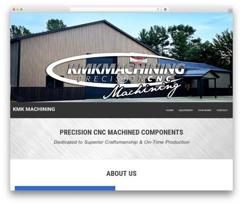 KMK Machining WordPress theme - kmkmachining.com