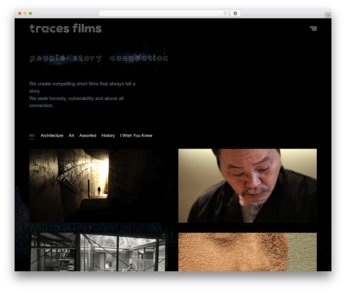 Revolution best WordPress theme - tracesfilms.com