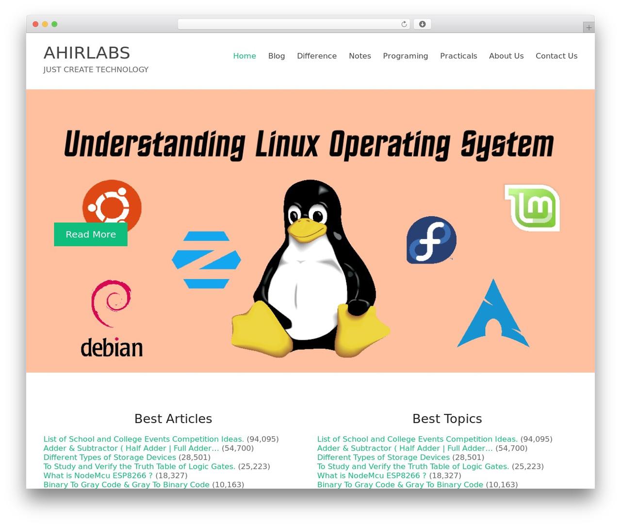 Spacious theme WordPress - ahirlabs.com