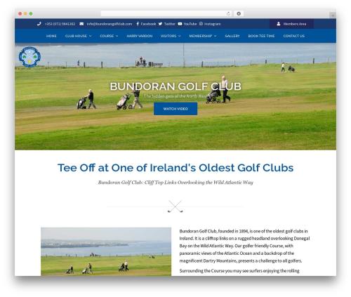 Sydney best free WordPress theme - bundorangolfclub.com