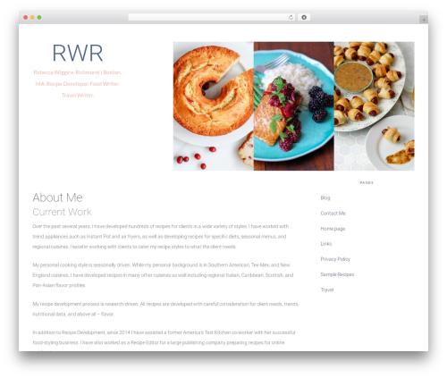 Tasteful Theme food WordPress theme - rwrichmond.com