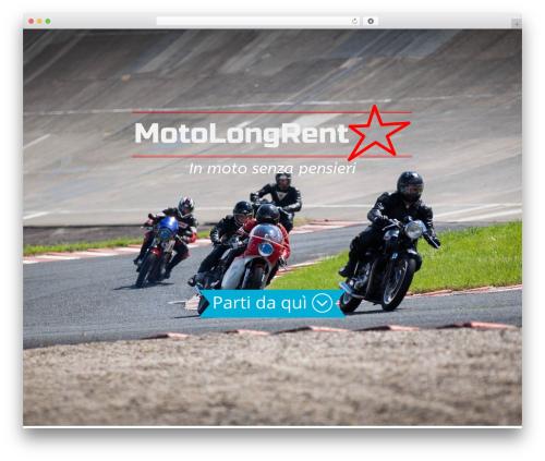X WordPress theme design - motolongrent.com