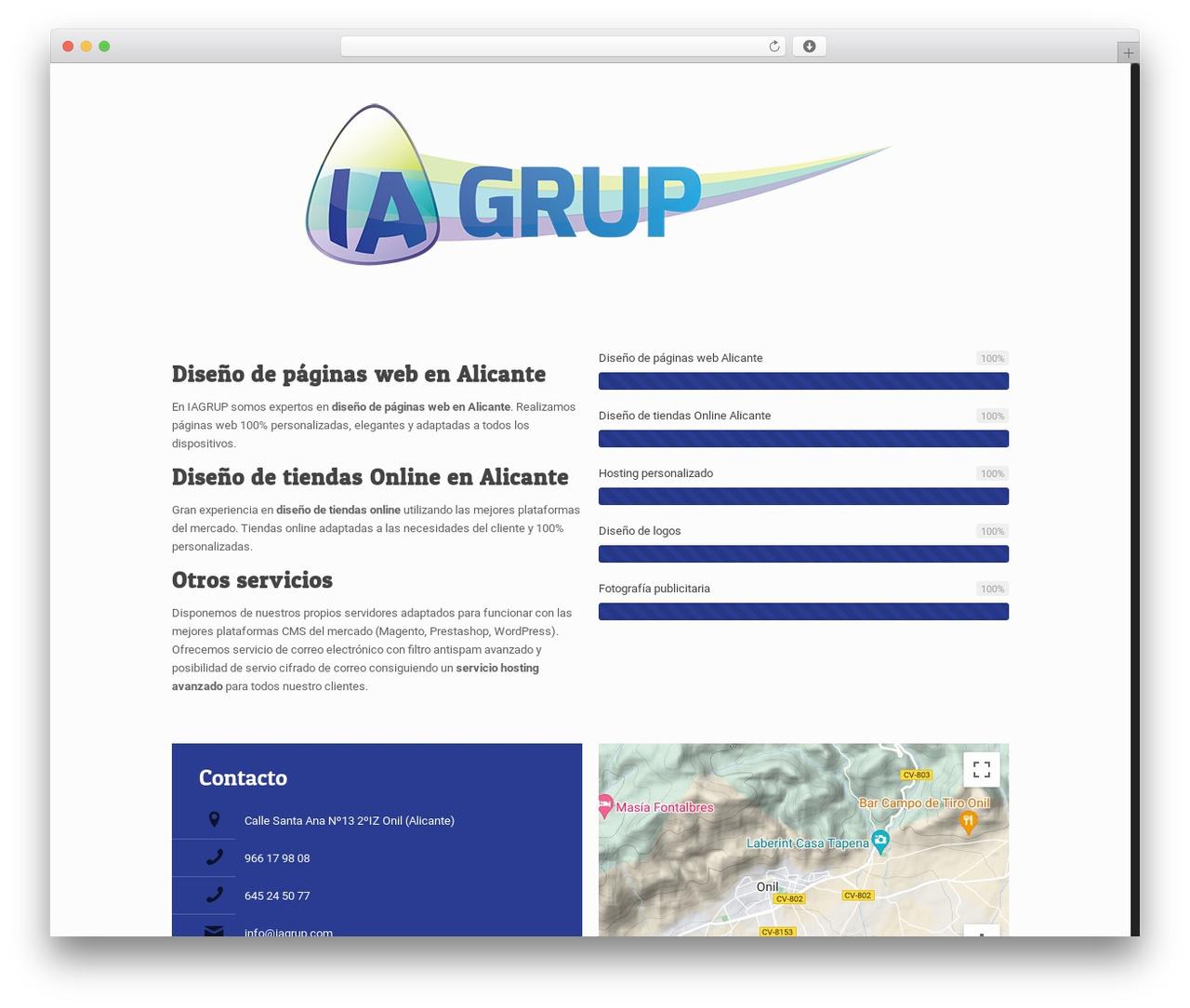 Betheme top WordPress theme - proyectosiagrup.com