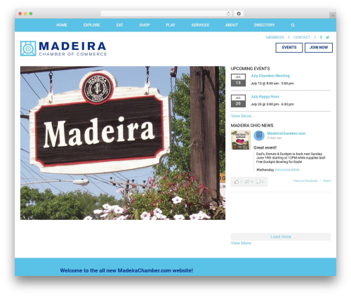 Madeira chamber of commerce wordpress theme design by wego unlimited madeira chamber of commerce wordpress website template madeirachamber maxwellsz