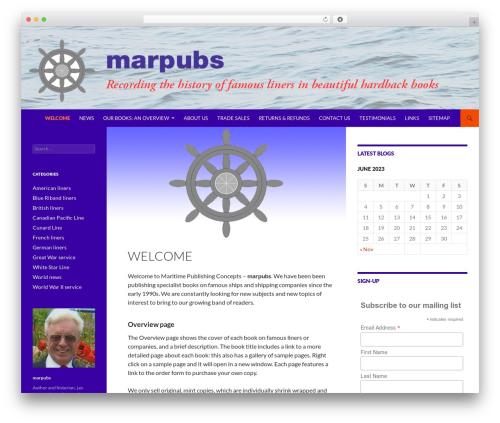 Twenty Fourteen business WordPress theme - marpubs.com