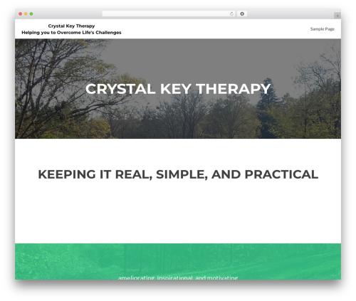 WordPress theme Zerif Lite - crystalkeytherapy.com