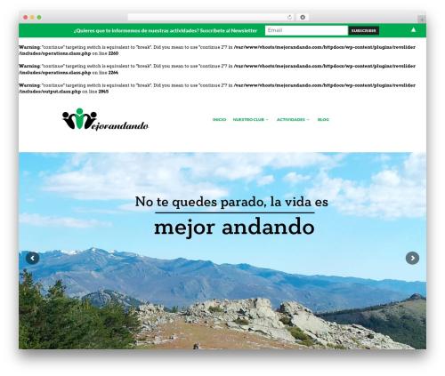 WordPress website template The Retailer - mejorandando.com