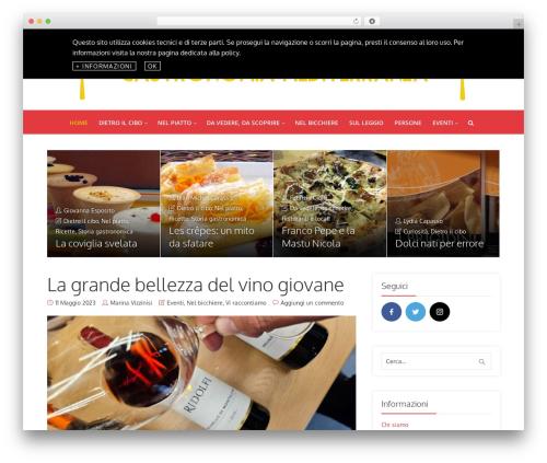 Best WordPress theme Throne - gastronomiamediterranea.com