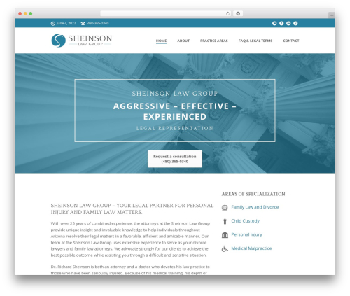 Jupiter template WordPress - sheinsonlaw.com
