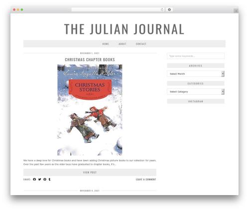 London Calling (pipdig) WordPress theme design - thejulianjournal.com