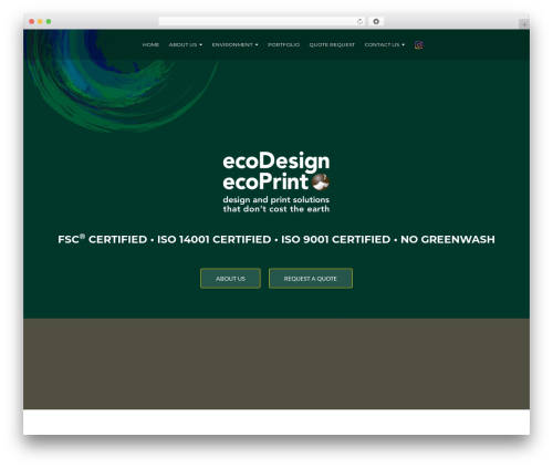 ResponsiveBoat WordPress theme design - ecodesign-ecoprint.com
