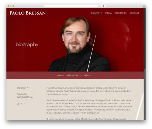 Template WordPress Salient - paolobressan.com