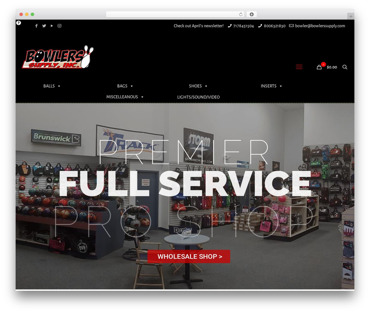 WordPress template Betheme - bowlerssupply.com
