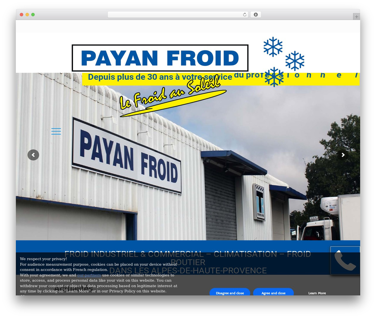 WordPress theme Betheme - payanfroid.com