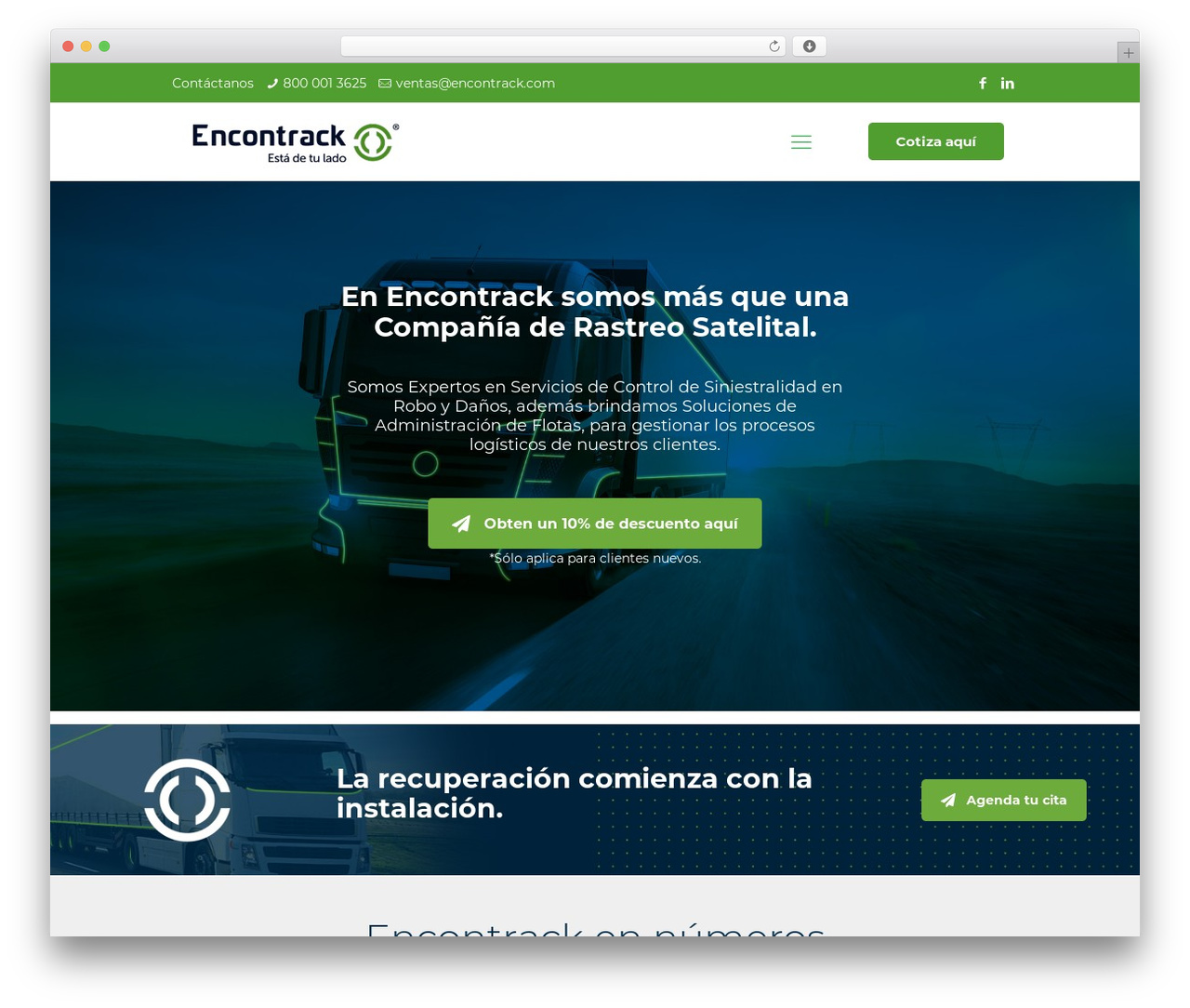 WordPress website template Betheme - encontrack.com