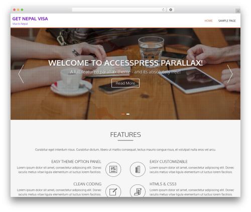 AccessPress Parallax free WordPress theme - getnepalvisa.com