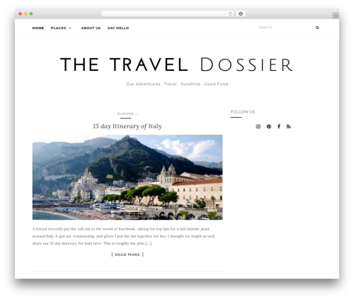 Activello free website theme - thetraveldossier.com