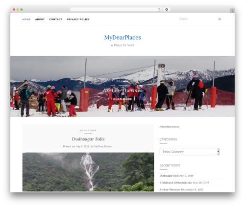 Best WordPress template Activello - mydearplaces.com