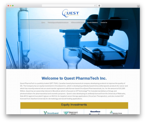 Best WordPress template HEAL - questpharmatech.com
