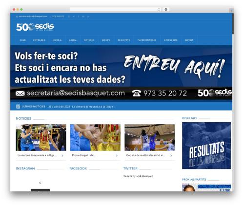 GoalKlub WordPress theme - sedisbasquet.com