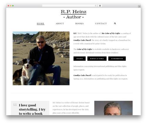 Jupiter WordPress theme - rpheinzauthor.com