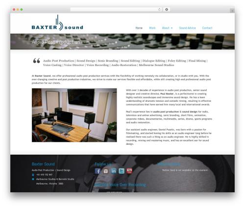 Striking MultiFlex & Ecommerce Responsive WordPress Theme WordPress store theme - baxtersound.com