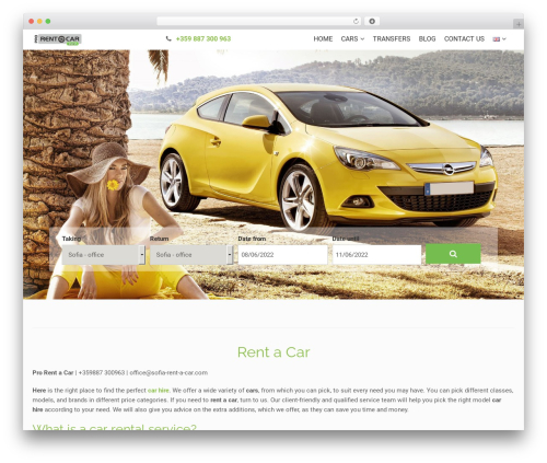Theme WordPress RentIt - sofia-rent-a-car.com
