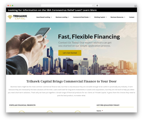 Nimva best WordPress theme - trihawkcapital.com