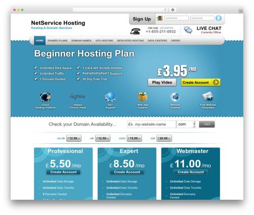 WP theme Simply Elegant - netservicehosting.com