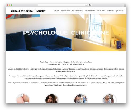 Zerif Lite theme WordPress - annecatherinegueudet-psychologue.com