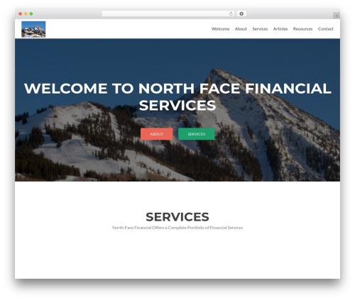 Zerif Lite WP template - northfacefinancial.com