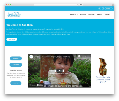 CharityWP WordPress website template - sao-bien.com
